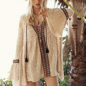 Free People NWT Love of Flowers Tunic Size M